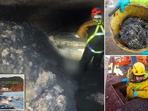 The monster beneath: Hidden below this seaside town is a fatberg the size of six double-decker buses