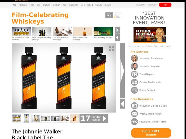 Film-Celebrating Whiskeys - The Johnnie Walker Black Label The Director's Cut Whiskey is Smooth (TrendHunter.com)