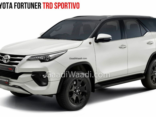 2019 Toyota Fortuner TRD Celebratory Edition Launched At Rs. 33.85 Lakh