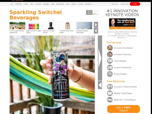 Sparkling Switchel Beverages - CideRoad's 'Spritzel' is Like a Hybrid Switchel and Spritzer (TrendHunter.com)