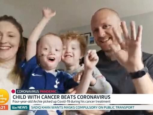 Parents reveal how their four-year-old son survived coronavirus