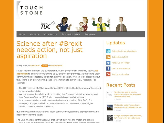 Science after #Brexit needs action, not just aspiration