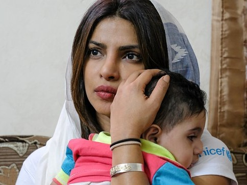 Priyanka Chopra Meets With Syrian Children And Youth In Jordan