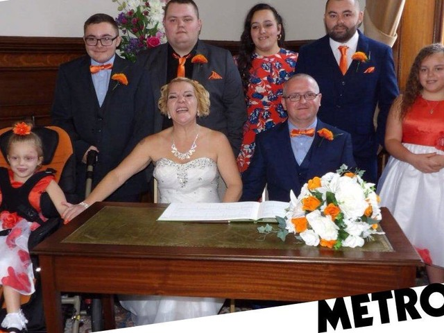 Mum shares her wedding day with six-year-old daughter who has a terminal illness