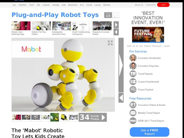 Plug-and-Play Robot Toys - The 'Mabot' Robotic Toy Lets Kids Create with Their Imagination (TrendHunter.com)