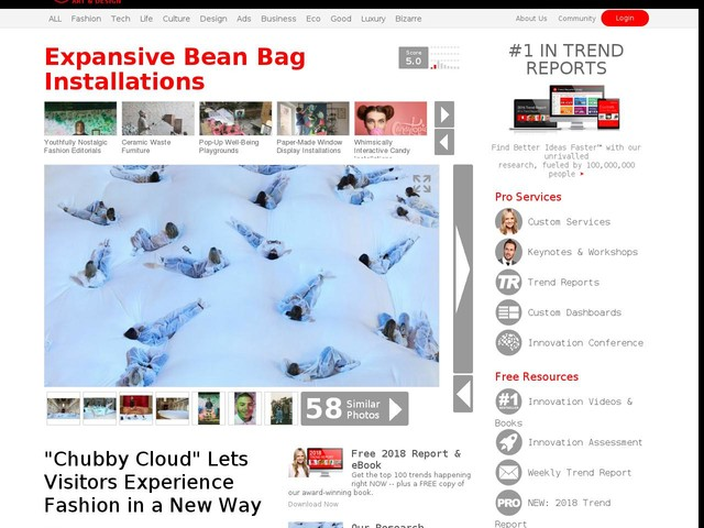 """Expansive Bean Bag Installations - """"Chubby Cloud"""" Lets Visitors Experience Fashion in a New Way (TrendHunter.com)"""