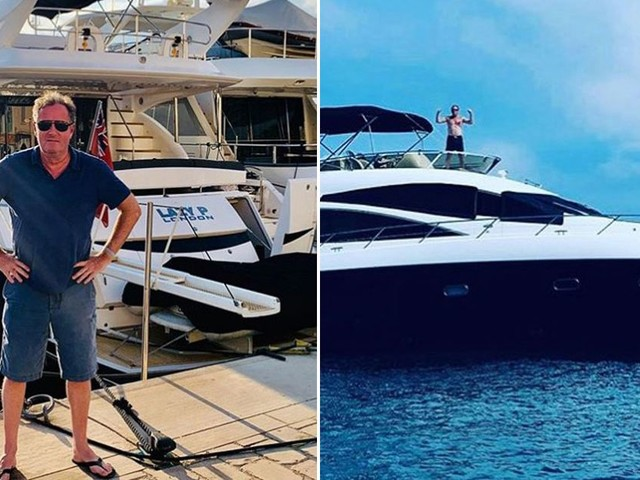 Piers Morgan rents £1m superyacht after slamming Harry and Meghan's private jet
