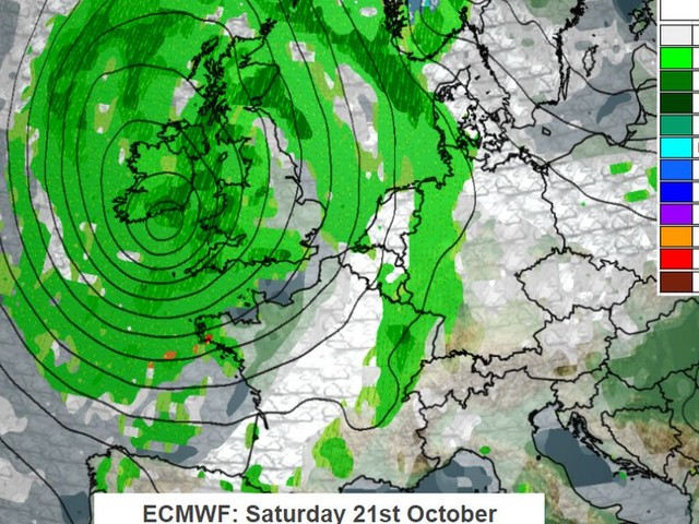 Explosive 'weather bomb' to batter Britain this weekend bringing 80mph winds and risk of flooding
