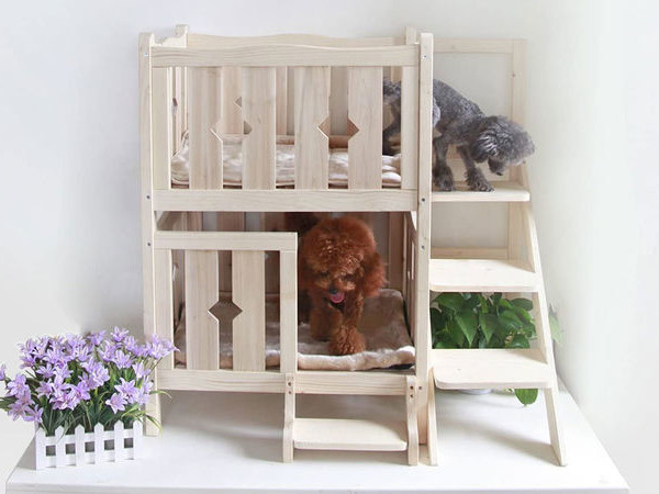 Multi-Level Dog Beds - The Petsfit Dog Bunk Bed Offers a Place for Two Pooches to Rest (TrendHunter.com)