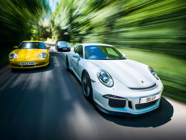 Old vs new: Three generations of the Porsche 911 GT3 tested