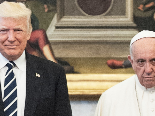 Pope Francis Looking Super Sad With The Trumps Is A Divine New Meme