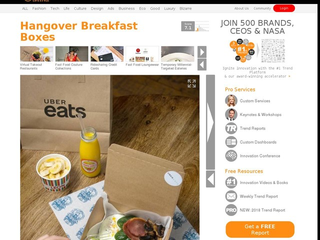Hangover Breakfast Boxes - UberEats' 'Fix Up Feast' is Being Touted as Holiday Hangover Remedy (TrendHunter.com)