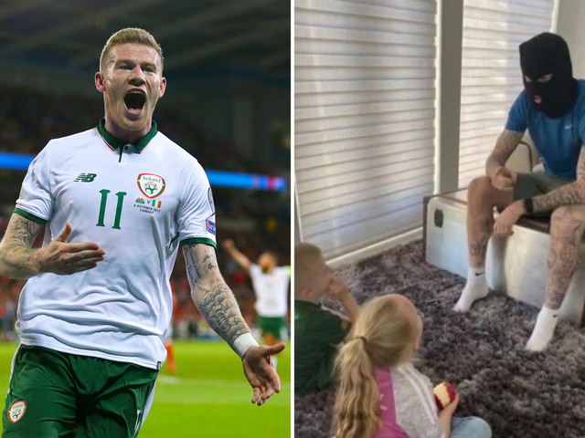 Republic of Ireland star James McClean wears BALACLAVA for 'history lesson' to his kids in deleted Instagram post