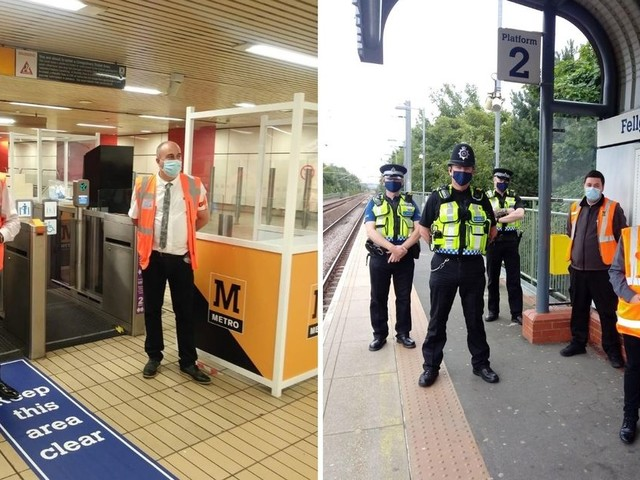 Extra staff patrolling Metro stations to ensure passengers are wearing masks
