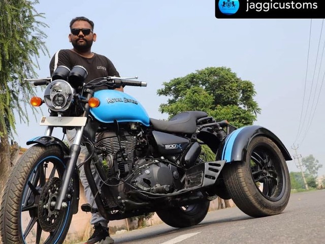 India's First Royal Enfield Thunderbird X Based Trike Is Mind-Blowing