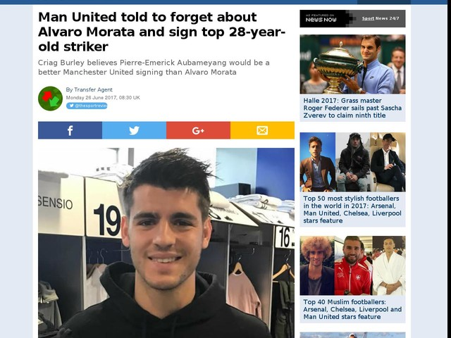 Man United told to forget about Alvaro Morata and sign top 28-year-old striker