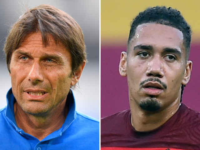 Inter Milan plot Chris Smalling transfer swoop as Conte looks to sign his FOURTH Man Utd star after amazing Roma season