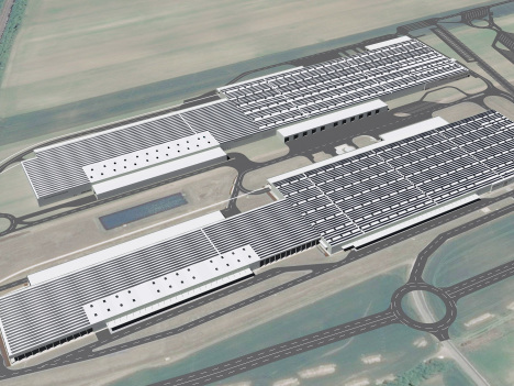 Audi building 160,000 m2 photovoltaic system for Győr, Hungary plant
