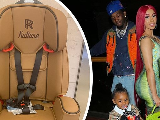 Offset spends $8,000 on a custom Rolls Royce car seat for two-year-old daughter Kulture