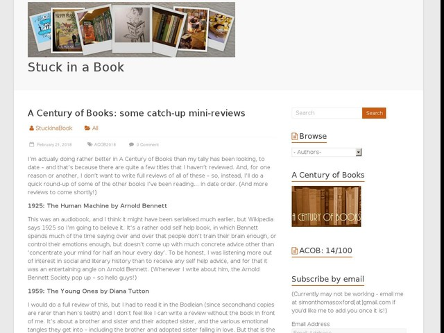 A Century of Books: some catch-up mini-reviews