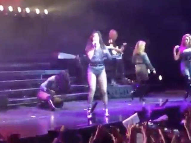Fifth Harmony star Normani takes major tumble mid-performance - but styles it out perfectly