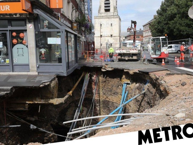 Huge sinkhole threatens to swallow pub into secret medieval cellar