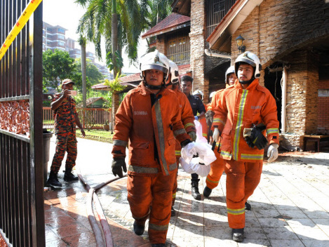 Remains of old folks home fire victims taken to hospital