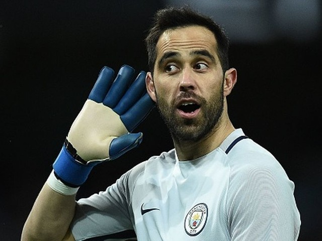 Man City goalkeeper Claudio Bravo reacts to criticism about his recent form