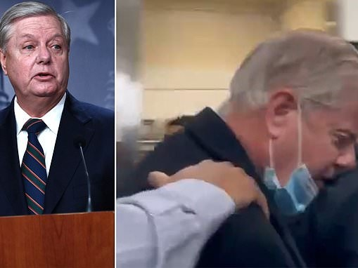 Trump supporters mob Sen. Lindsey Graham at Reagan Airport in DC, call him a 'traitor'