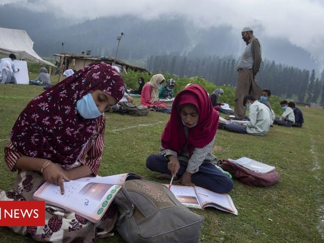 Kashmir's open-air classes offer stunning solution to lockdown
