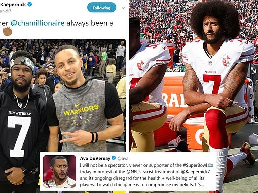 ImWithKap  Celebrities voice support for Colin Kaepernick on Twitter ahead  of Super Bowl LIII 3a14337dd