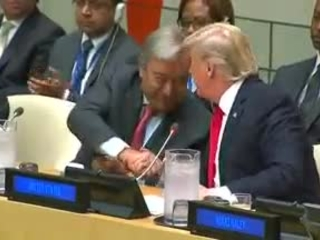 Trump strikes a conciliatory tone with the United Nations