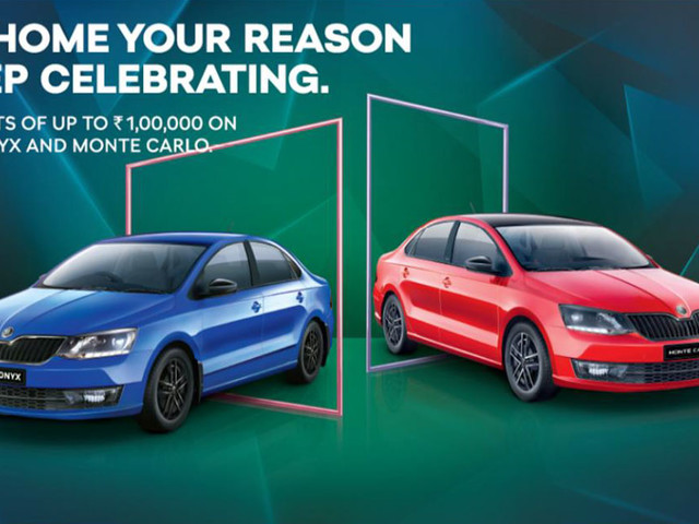 Skoda Rapid Onyx And Monte Carlo Get Up To Rs. 1 Lakh Discount