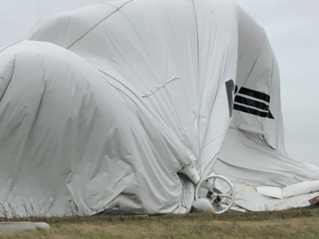 Airlander 10 Crashes In Cardington Airfield, Bedfordshire, After Coming Loose From Its Moorings