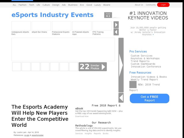 eSports Industry Events - The Esports Academy Will Help New Players Enter the Competitive World (TrendHunter.com)