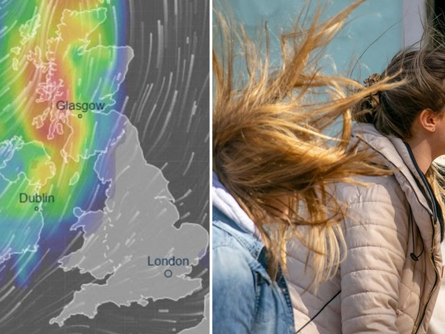 UK weather forecast – the tail end of Hurricane Dorian brings strong winds and heavy rain for the rest of the week