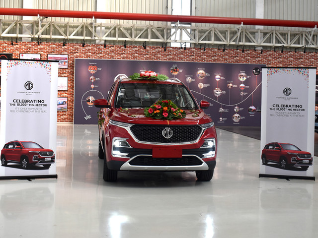 10,000th MG Hector rolls out of Halol plant