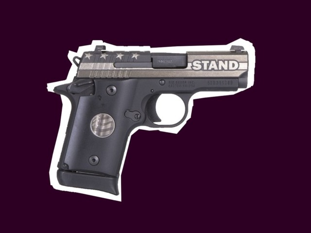 What's the Deal With This 9 mm Handgun Casually Engraved With the Word STAND?