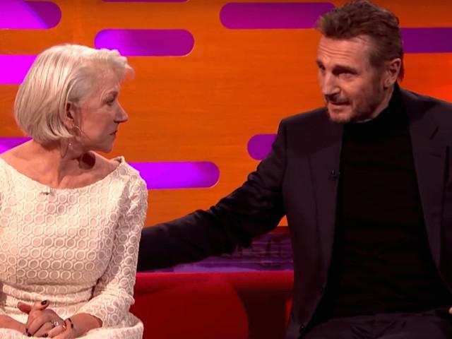 Liam Neeson's Particular Set of Skills Could Only Muster 'F-ck' When He First Met Ex-Girlfriend Helen Mirren
