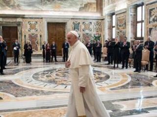The Latest: Pope meets island leaders, decries rising seas