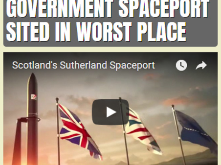 UK Government Spaceport Sited in Worst Place