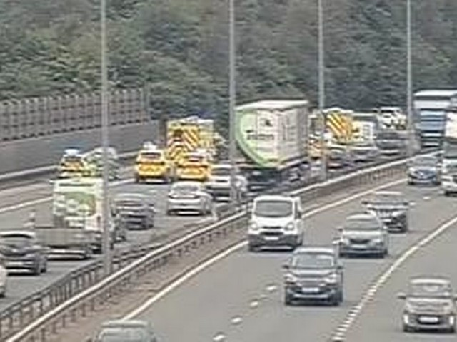 LIVE: M60 closed near Hollinwood due to serious collision involving van and car