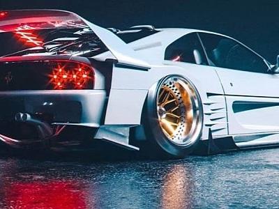 "Widebody Ferrari ""White Horse"" Rendering Looks Like a Toyota MR2 on Steroids"