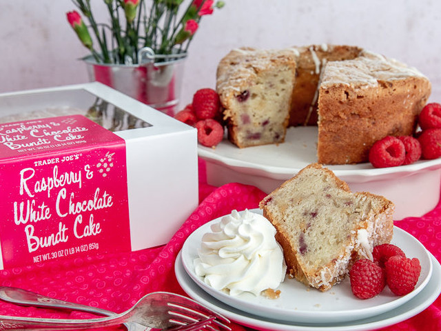 White Chocolate Bundt Cakes - Trader Joe's Raspberry & White Chocolate Bundt Cake is Here for Spring (TrendHunter.com)