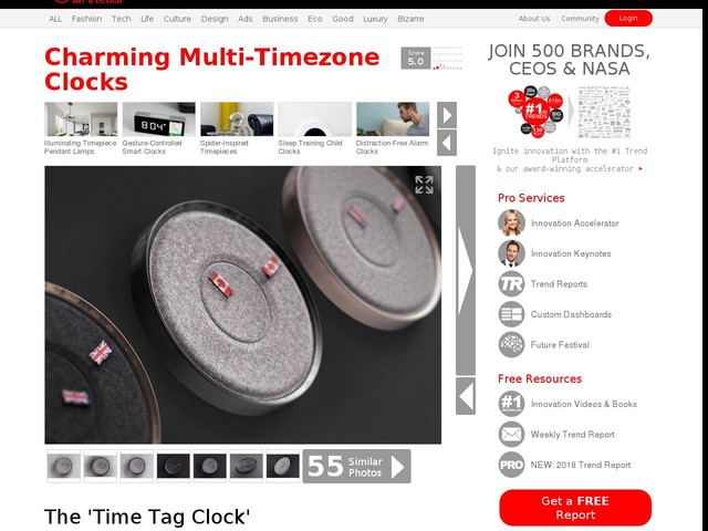 Charming Multi-Timezone Clocks - The 'Time Tag Clock' Represents Multiple Timezones with Flags (TrendHunter.com)