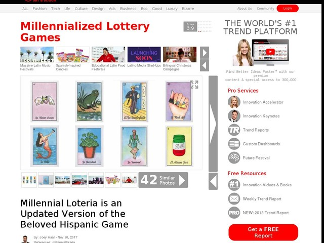 Millennialized Lottery Games - Millennial Loteria is an Updated Version of the Beloved Hispanic Game (TrendHunter.com)