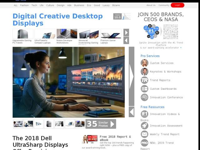 Digital Creative Desktop Displays - The 2018 Dell UltraSharp Displays Offer Precision Graphics (TrendHunter.com)