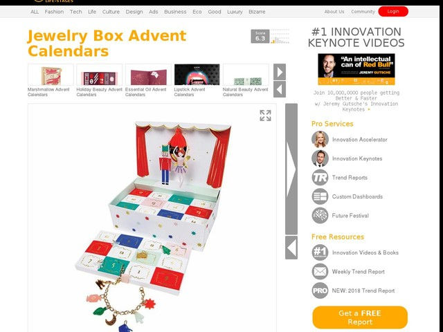 Jewelry Box Advent Calendars - This Jewelry Advent Calendar Completes a Complete Charm Bracelet (TrendHunter.com)