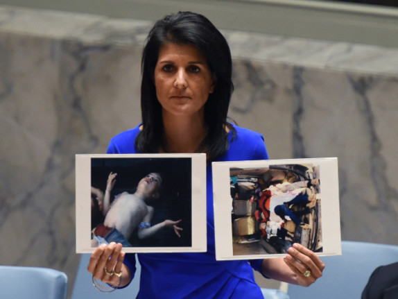 US warns of action after Syria chemical massacre