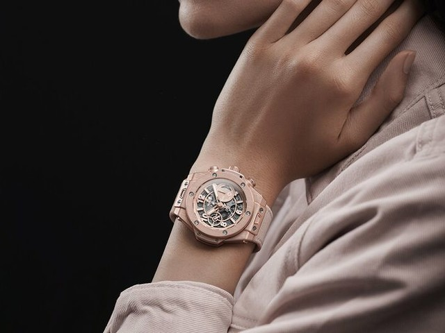 Elegant Millennial Pink Timepieces - The Hublot Big Bang Watch Has an Inclusive Design (TrendHunter.com)